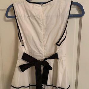 Zara white & black shirt